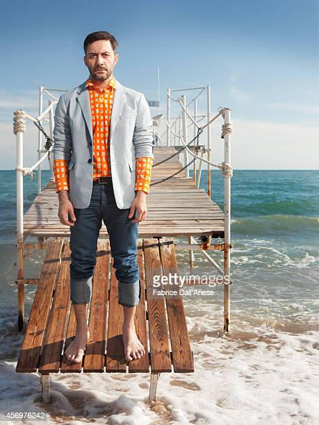 Actor Filippo Timi is photographed for Vanity Fair Italy in Cannes France