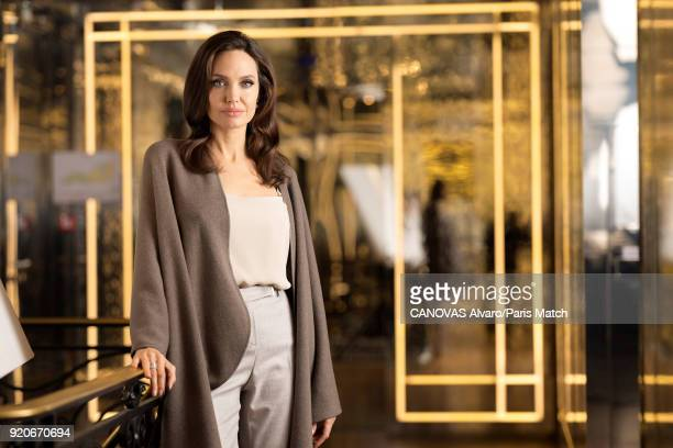 Actor film director Angelina Jolie is photographed for Paris Match on January 29 2018 in Paris France
