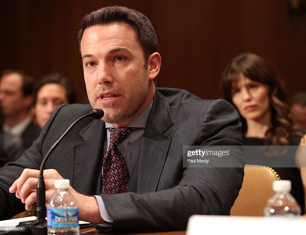 Actor, filmmaker and founder of the Eastern Congo Initiative Ben Affleck testifies before a Senate Appropriations State, Foreign Operations, and Related Programs Subcommittee hearing on 'Diplomacy, Development, and National Security' on Capitol Hill in Washington March 26, 2015.