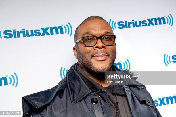Actor/ filmmaker Tyler Perry visits SiriusXM Studios on February 26 2019 in New York City