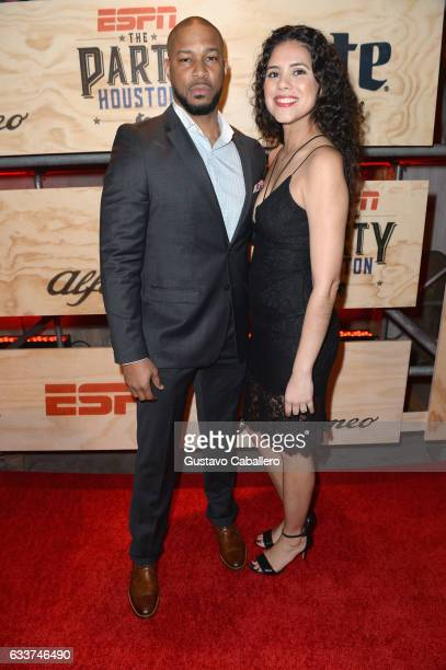 Actor Finesse Mitchell and Adris Debarge attend the 13th Annual ESPN The Party on February 3 2017 in Houston Texas
