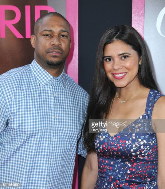 Actor Finesse Mitchell and Adris Debarge attend the Premiere of Universal Pictures' 'Girls Trip' at Regal LA Live Stadium 14 on July 13 2017 in Los...