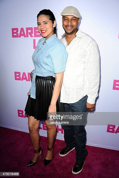 Actor Finesse Mitchell and wife Adris DeBarge attend the premiere of 'Barely Lethal' at ArcLight Hollywood on May 27 2015 in Hollywood California