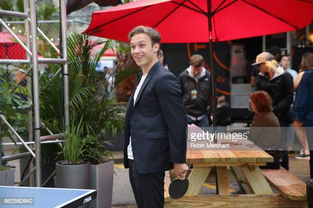 Actor Finn Cole plays table tennis during TNT Animal Kingdom at SXSW 2017 on March 11 2017 in Austin Texas