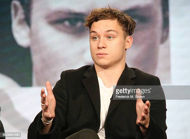 Actor Finn Cole speaks onstage during TNT's Animal Kingdom panel as part of the Turner Networks portion of This is Cable Television Critics...