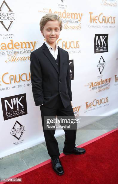 Actor Finn Douglas attends the 6th International Academy of Web Television Awards at Skirball Cultural Center on August 24 2018 in Los Angeles...