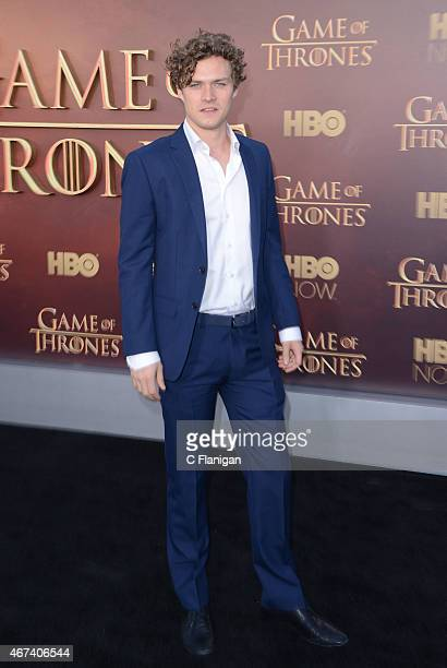 Actor Finn Jones attends HBO's 'Game of Thrones' Season 5 Premiere at the San Francisco War Memorial Opera House on March 23 2015 in San Francisco...