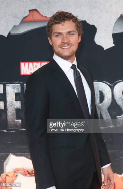 Actor Finn Jones attends 'Marvel's The Defenders' New York premiere at Tribeca Performing Arts Center on July 31 2017 in New York City