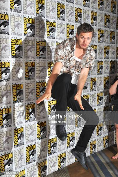 Actor Finn Jones attends 'Marvel's The Defenders' press line at Comic Con on July 21 2017 in San Diego California