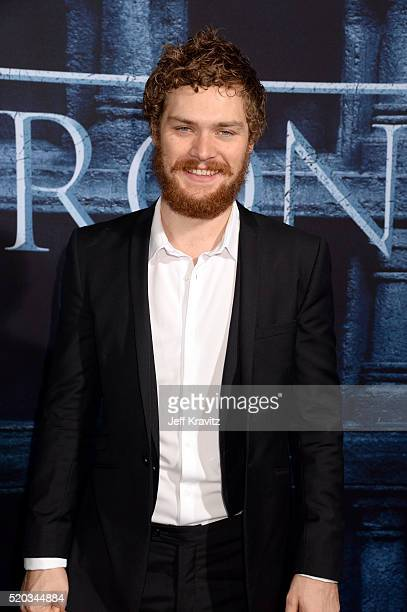 Actor Finn Jones attends the premiere for the sixth season of HBO's 'Game Of Thrones' at TCL Chinese Theatre on April 10 2016 in Hollywood City