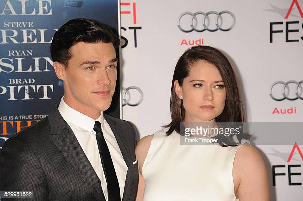 Actor Finn Whitrock and wife Sarah Roberts arrive at the closing night premiere of 'The Big Short' held at AFI FEST 2015 at the TCL Chinese Theatre...