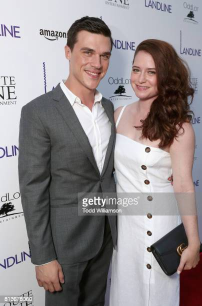 Actor Finn Wittrock and his wife Sarah Roberts attend the Los Angeles Premiere of 'Landline' at ArcLight Hollywood Cinemas on July 12 2017 in Los...