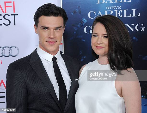 Actor Finn Wittrock and Sarah Roberts arrive at the AFI FEST 2015 Presented By Audi Closing Night Gala Premiere of Paramount Pictures' The Big Short...