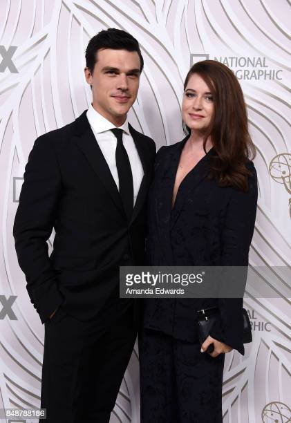 Actor Finn Wittrock and Sarah Roberts arrive at the FOX Broadcasting Company Twentieth Century Fox Television FX and National Geographic 69th...