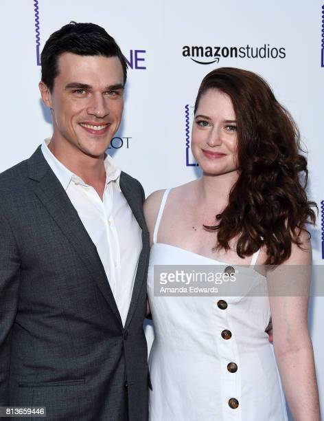 Actor Finn Wittrock and Sarah Roberts arrive at the premiere of Amazon Studios' 'Landline' at the ArcLight Hollywood on July 12 2017 in Hollywood...