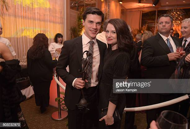 Actor Finn Wittrock and wife Sarah Roberts attend the 27th Annual Palm Springs International Film Festival Awards Gala After Party at the Parker Palm...
