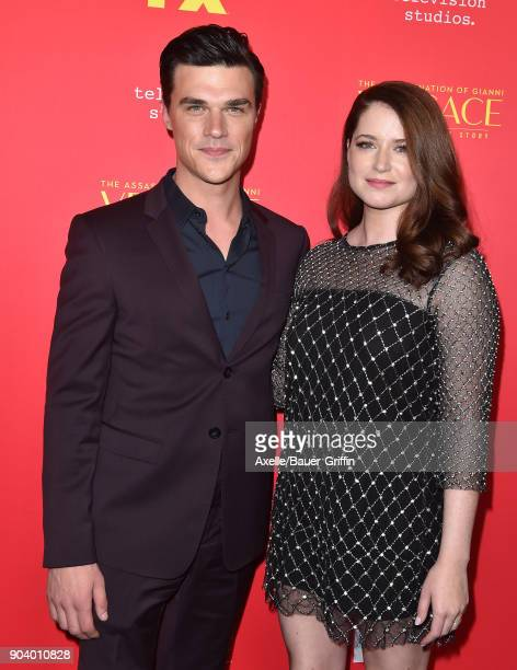 Actor Finn Wittrock and wife Sarah Roberts attend the Los Angeles Premiere of 'The Assassination of Gianni Versace American Crime Story' at ArcLight...