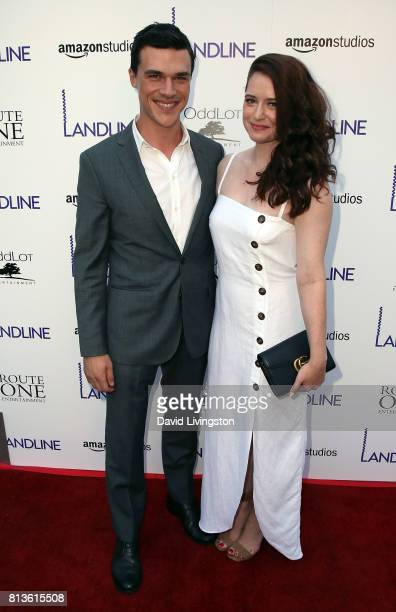 Actor Finn Wittrock and wife Sarah Roberts attend the premiere of Amazon Studios' 'Landline' at ArcLight Hollywood on July 12 2017 in Hollywood...