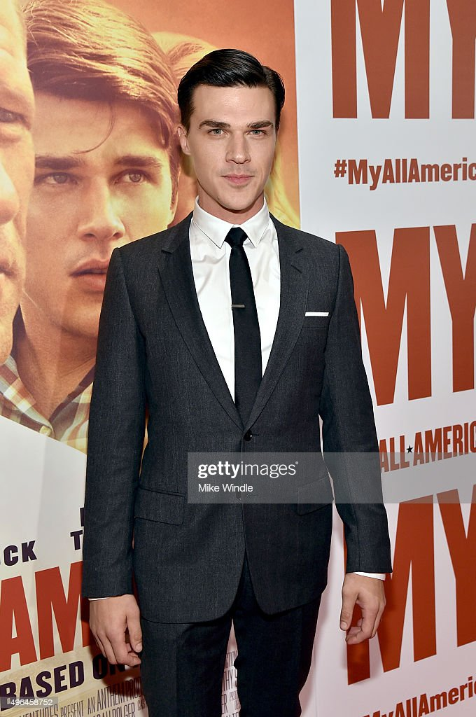 Actor Finn Wittrock attends the premiere of Clarius Entertainment's 'My All American' at The Grove on November 9, 2015 in Los Angeles, California.