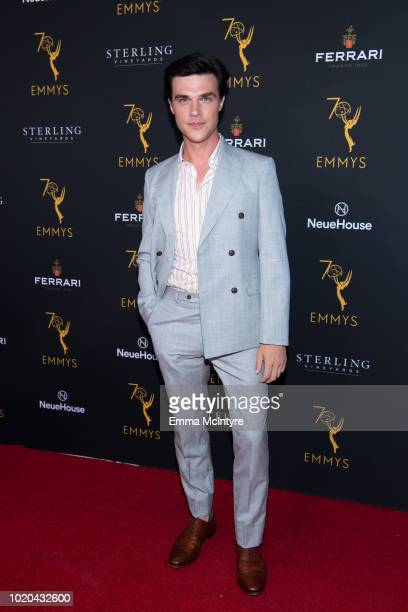 Actor Finn Wittrock attends the Television Academy's Performers Peer Group Celebration at NeueHouse Hollywood on August 20 2018 in Los Angeles...