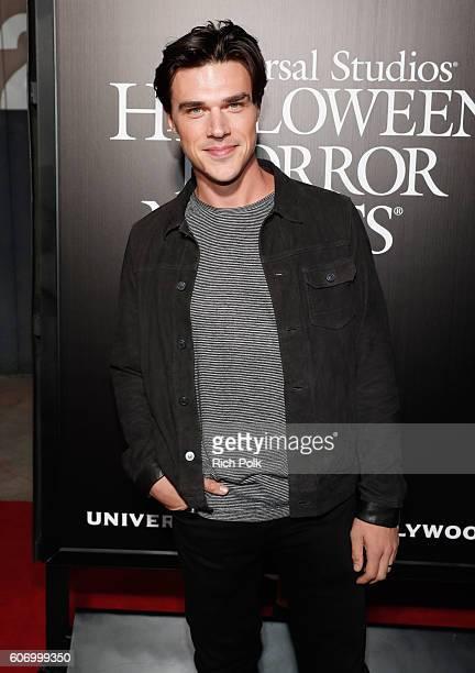 Actor Finn Wittrock attends Universal Studios 'Halloween Horror Nights' opening night at Universal Studios Hollywood on September 16 2016 in...