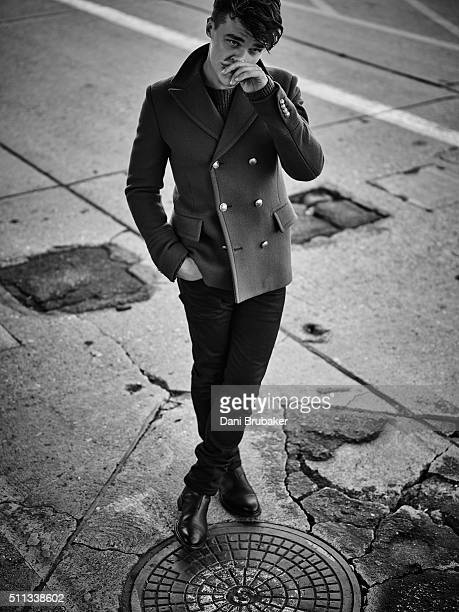 Actor Finn Wittrock is photographed for Flaunt Magazine on October 7 2015 in El Segundo California