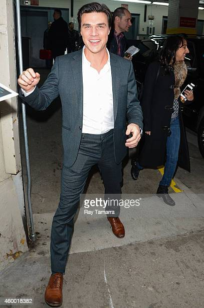 Actor Finn Wittrock leaves the 'Huff Post Live' taping at the Huffington Post Studios on December 5 2014 in New York City