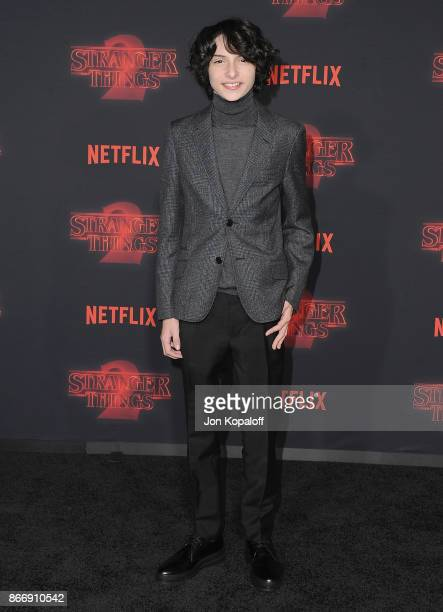 Actor Finn Wolfhard arrives at the premiere of Netflix's 'Stranger Things' Season 2 at Regency Bruin Theatre on October 26 2017 in Los Angeles...