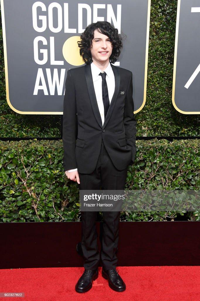 Actor Finn Wolfhard attends The 75th Annual Golden Globe Awards at The Beverly Hilton Hotel on January 7, 2018 in Beverly Hills, California.