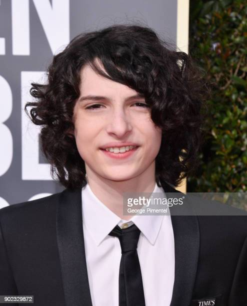 Actor Finn Wolfhard attends The 75th Annual Golden Globe Awards at The Beverly Hilton Hotel on January 7 2018 in Beverly Hills California