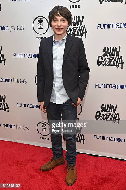 Actor Finn Wolfhard attends the Shin Godzilla premiere presented by Funimation Films at AMC Empire 25n2016 New York Comic Con on October 5 2016 in...