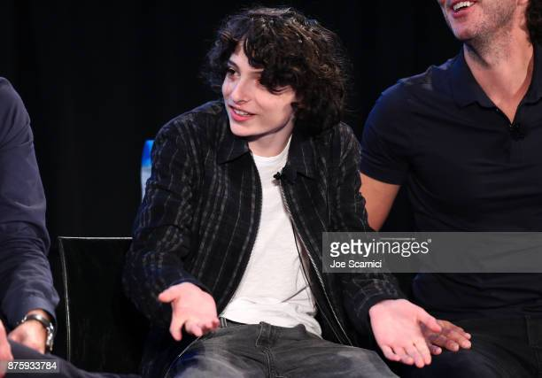 Actor Finn Wolfhard speaks onstage during the 'Stranger Things Inside the Upside Down' panel part of Vulture Festival LA Presented by ATT at...
