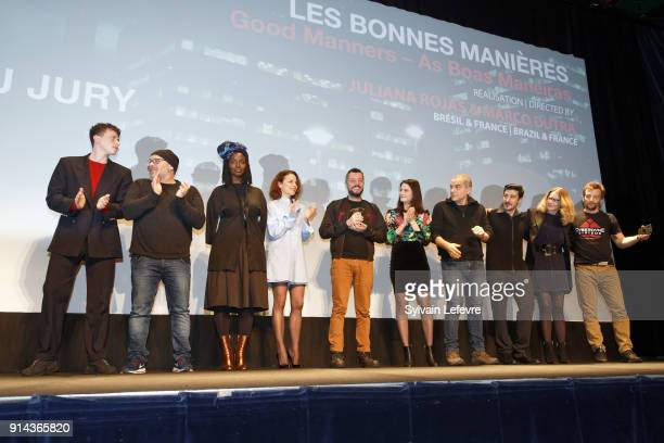 Actor Finnegan Oldfield director and screenwriter Olivier Megaton actress Aissa Maiga actress Suzanne Clementdirector and winner of the jury prize...