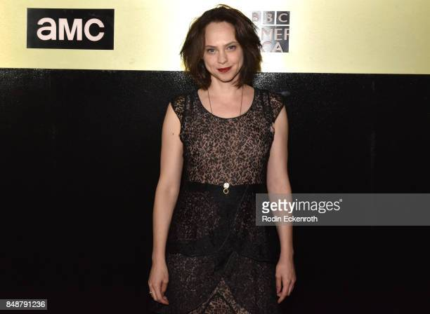 Actor Fiona Dourif attends AMC Networks 69th Primetime Emmy Awards afterparty celebration at BOA Steakhouse on September 17 2017 in West Hollywood...