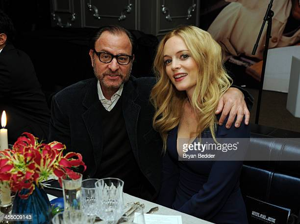 Actor Fisher Stevens and Actress Heather Graham attend Artists for Peace and Justice NYC Holiday Benefit presented by Bovet 1822 at UpDown on...