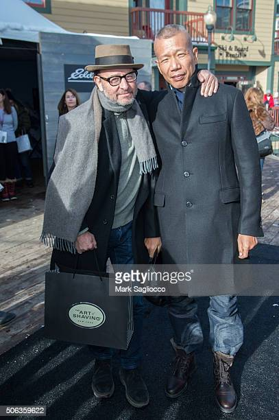 Actor Fisher Stevens and Contemporary Artist Cai GuoQiang are sighted at the Sundance Film Festival on January 22 2016 in Park City Utah