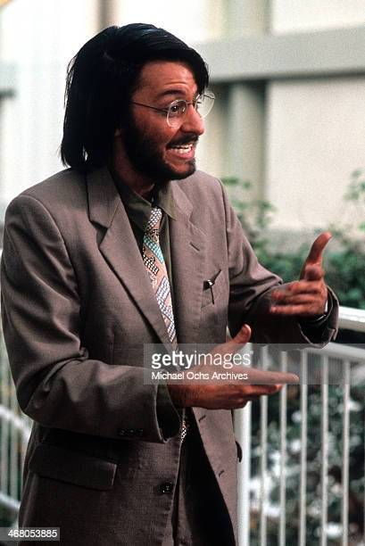 Actor Fisher Stevens on set of the movie Short Circuit 2 circa 1988