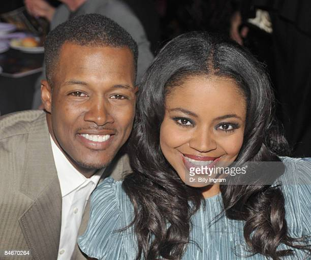 Actor Flex Alexander and his wife Shanice Wilson arrive at the 8th Annual Heroes In The Struggle Gala at the Walt Disney Concert Hall on February 4...