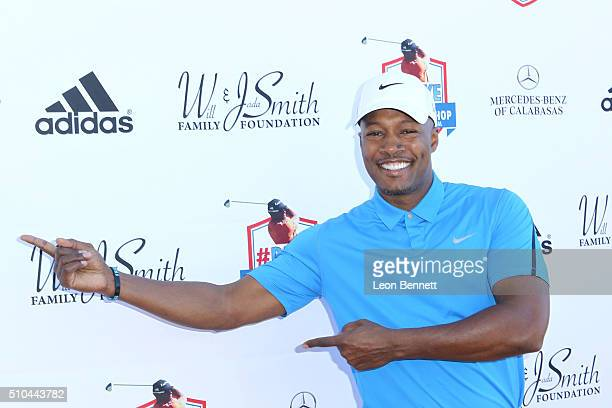 Actor Flex Alexander arrived at the Will Smith And Jada Pinkett Present The Stephen Bishop RAKE Invitational Golf Tournament at Calabasas Country...