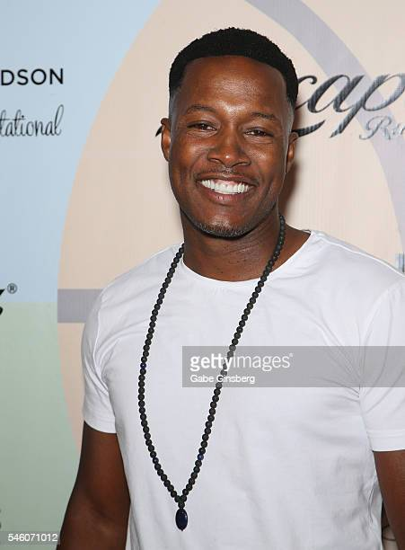 Actor Flex Alexander attends the Coach Woodson Las Vegas Invitational red carpet and pairings party at 1 OAK Nightclub at The Mirage Hotel Casino on...