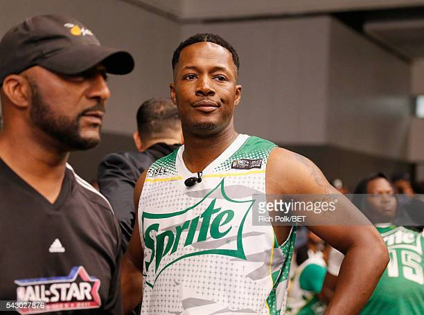 Actor Flex Alexander participates in the celebrity basketball game presented by Sprite during the 2016 BET Experience on June 25 2016 in Los Angeles...