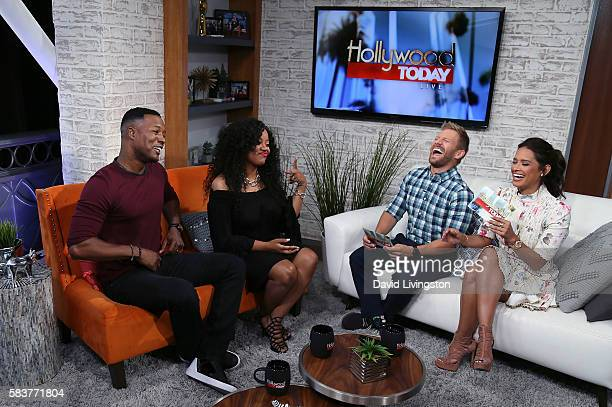 Actor Flex Alexander wife singer Shanice and hosts Tanner Thomason and Rocsi Diaz attend Hollywood Today Live at W Hollywood on July 27 2016 in...