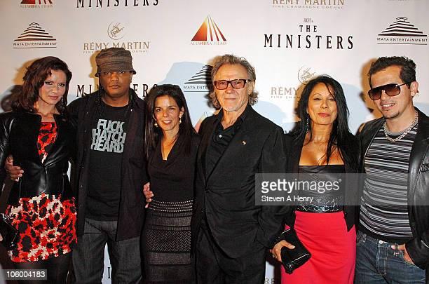 Actor Florencia Lozano writer Franc Reyes producer Jill Footlick actor Harvey Keitel actress Wanda De Jesus and actor John Leguizamo attend the...