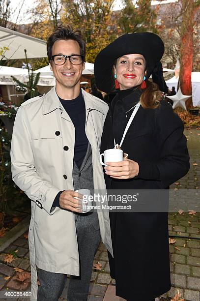 Actor Florian David Fitz and actress LaraJoy Koerner attend the 19th BMW Advent Charity Concert at St Michael church on December 6 2014 in Munich...