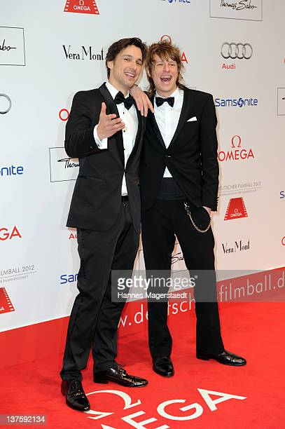 Actor Florian David Fitz and Alexander Scheer attend the German Filmball at the Hotel Bayerischer Hof on January 21 2012 in Munich Germany