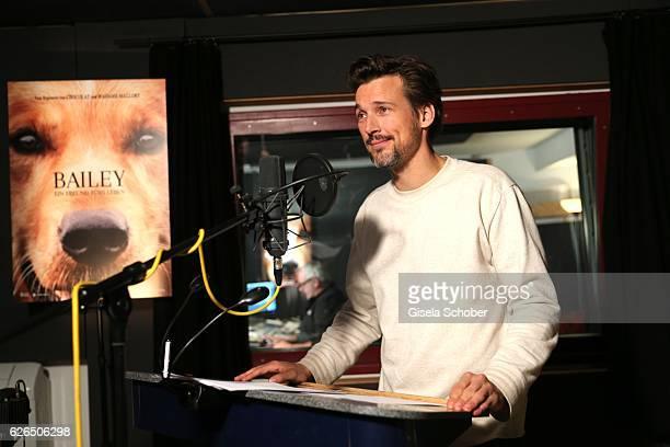 Actor Florian David Fitz during the dubbing of the film 'Bailey Ein Hund fuer's Leben' on November 11 2016 in Munich Germany