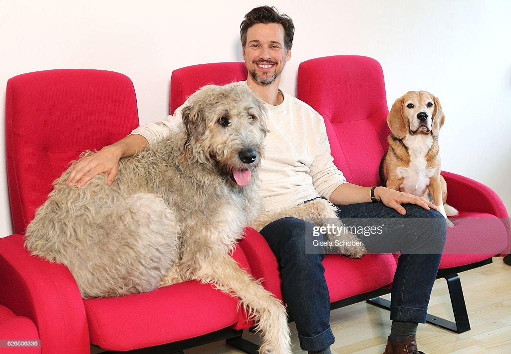 Florian David Fitz Dubs 'Bailey - Ein Hund fuer's Leben' For Constantin Film : News Photo