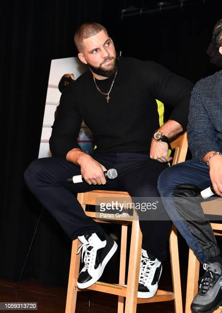 Actor Florian Munteanu speaks onstage during Creed 2 Clark Atlanta University Student Forum at Clark Atlanta University on November 8 2018 in Atlanta...