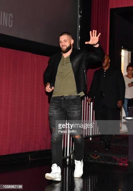 Actor Florian Munteanu surprises moviegoers during the Creed 2 Atlanta screening at Regal Atlantic Station on November 7 2018 in Atlanta Georgia