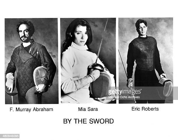 Actor FMurray Abraham actress Mia Sara and actor Eric Roberts pose for the movie By the Sword circa 1993